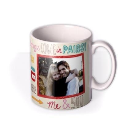 Valentine's Day Good Pairs Photo Upload Mug