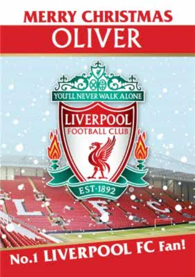 Liverpool FC Football Club No.1 Fan Christmas Card