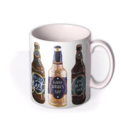 Father's Day Beer Bottles Personalised Mug