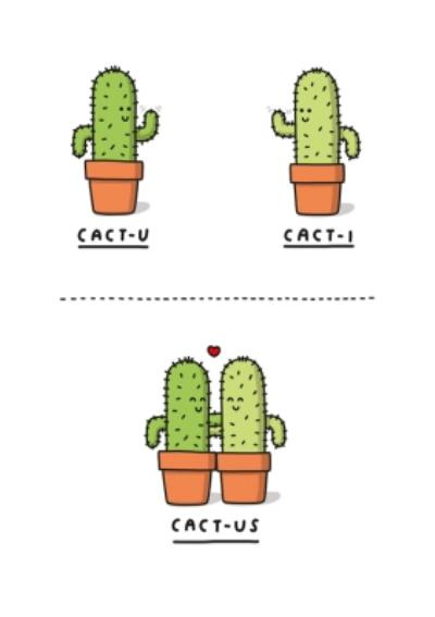 Mungo And Shoddy Cactus Funny Valentine's Day Card