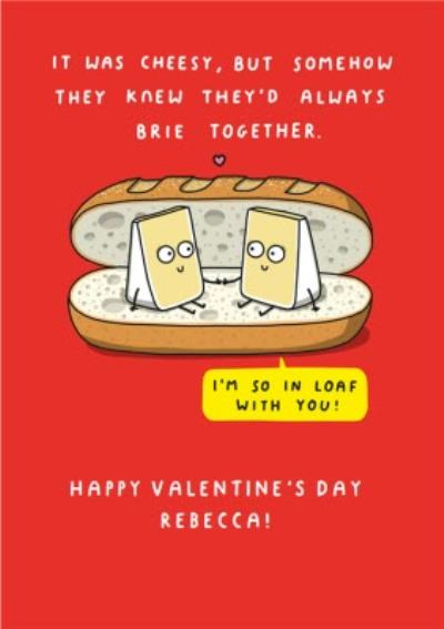 Mungo And Shoddy Cheesy Brie Together Funny Valentine's Day Card