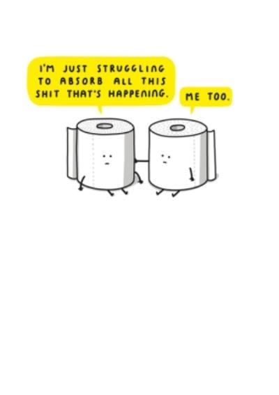 Mungo And Shoddy Rude Toilet Paper Empathy Just A Note Card