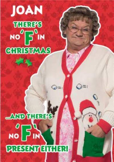 Mrs Brown's Boys No F In Christmas Funny Card