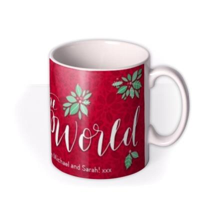 Merry Christmas Joy To The World Personalised Text Mug