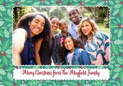 Modern Photo Upload From the Family Christmas Card