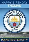 Manchester City Football Birthday Card