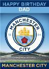Manchester City Football Dad Birthday Card