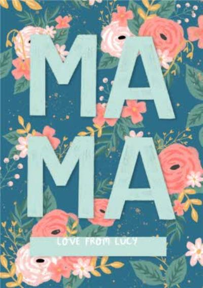 Mama Illustrated Floral Card