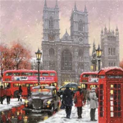 Westminster Abby London Christmas Card