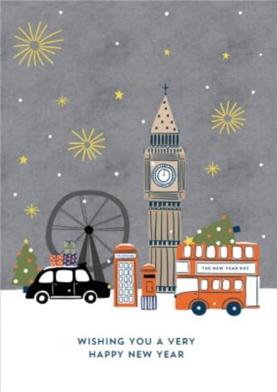 London Scene Happy New Year Card