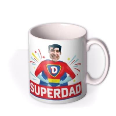 Typographic The Amazing Adventures of Superdad Photo Upload Mug