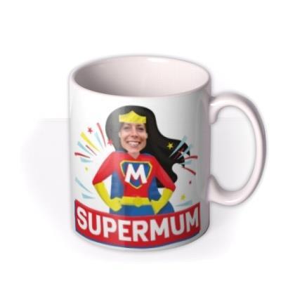 Typographic The Amazing Adventures of Supermum Photo Upload Mug