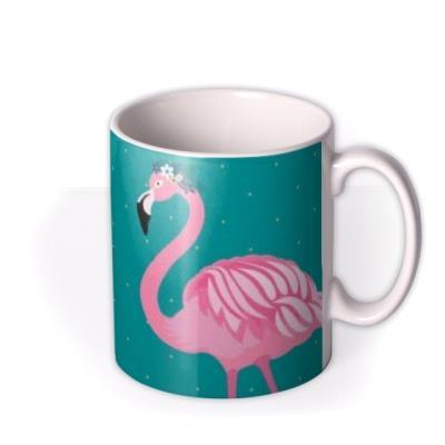 Cute Twin Flamingo Illustrated Mug