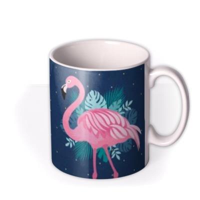 Cute Flamingo Illustrated Photo Upload Mug