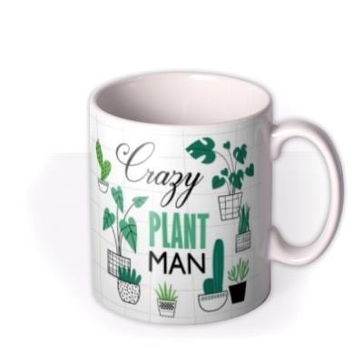 Illustration Cute Crazy Plant Man Personalised Mug