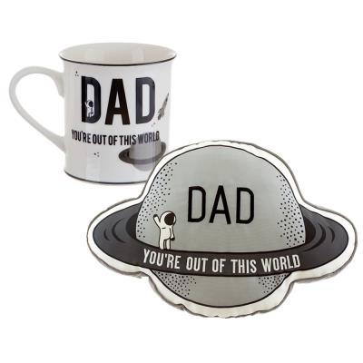 Dad You're Out of This World Mug and Cushion Gift Set