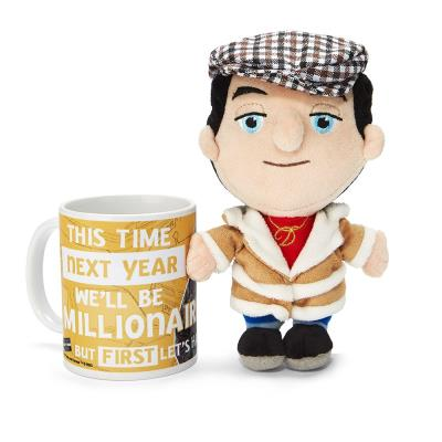 Only Fools and Horses Del Boy Soft Toy & Mug Set