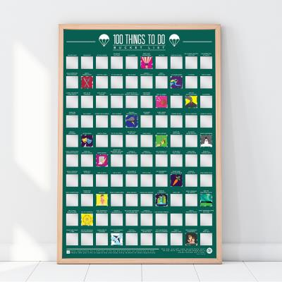Gift Republic 100 Things To Do Bucket List Scratch Off Poster