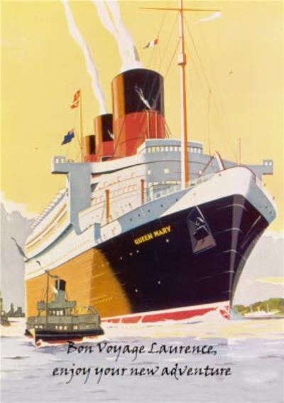 Mary Evans Design Bon Voyage Personalised Card