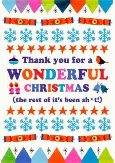 Thank You For A Wonderful Christmas Covid Joke Christmas Card