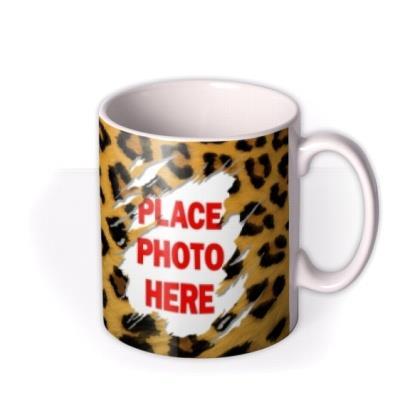 Sexy Leopard Print Photo Upload Mug