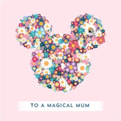Disney Minnie Mouse Bright Flowers To A Magical Mum Mother's Day Card