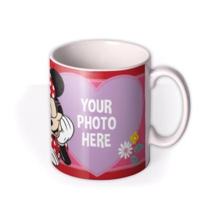 Disney Minnie Mouse Glasses Photo Upload Mug
