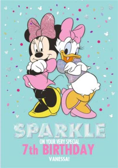 Disney Minnie Mouse 7Th Birthday Personalised Card