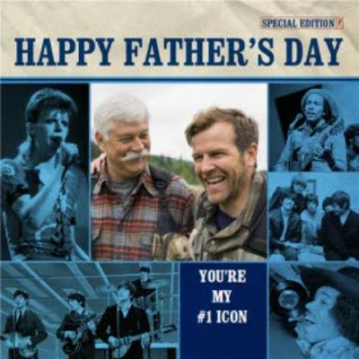 #1 Music Icons Father's Day Card