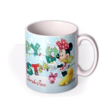 Christmas Disney Minnie & Mickey Mouse Personalised Mug