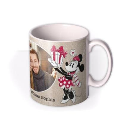 Disney Mickey And Minnie Mouse Christmas Photo Mug
