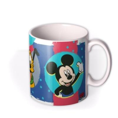 Disney Mickey And Pluto Colourful Custom Photo Mug
