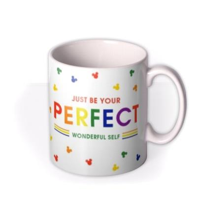 Disney Mickey Mouse Be Your Perfect Wonderful Self Pride Mug
