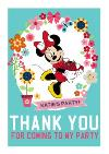 Minnie Mouse Thank You Party Card