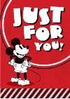 Disney Just For You Vintage Mickey Card