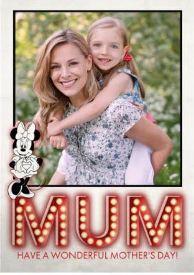 Disney Minnie Mum Photo Upload Card