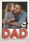 Disney Dad Name In Lights Fathers Day Photo Upload Card