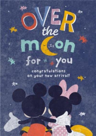 Cute Minnie & Mickey - New Baby Card