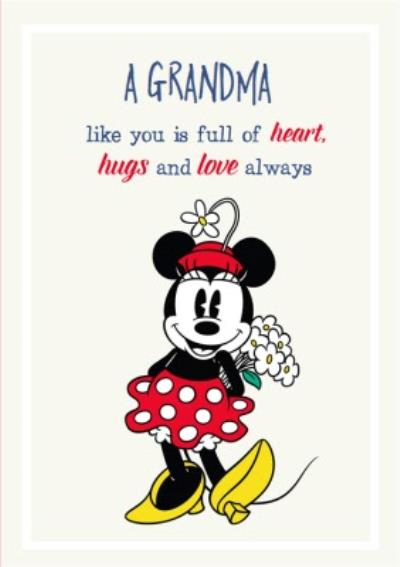 Disney Minnie Mouse Grandma Like You Is Full Of Heart Mothers Day Card