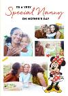 Cute Minnie Mother's Day Card  - Photo Upload -  Special Nanny