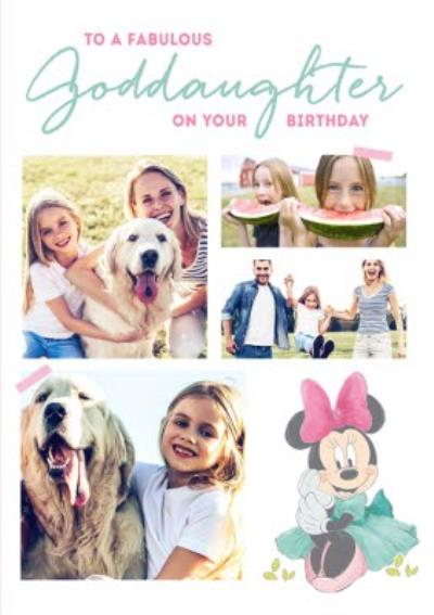 Disney Minnie Mouse Fabulous Goddaughter Photo Upload Card