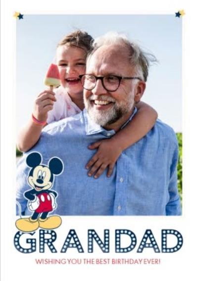 Disney Mickey Mouse Grandad Photo Upload Birthday Card