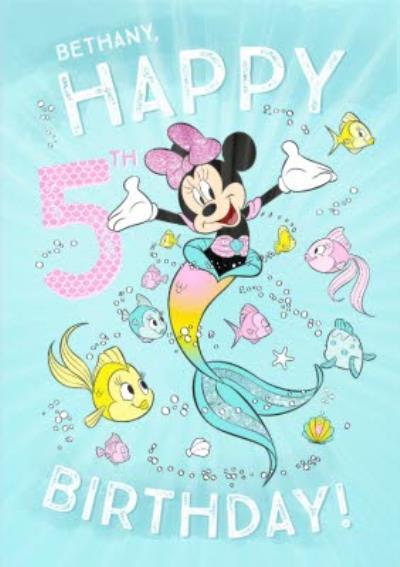 Disney Minnie Mouse Birthday Card Happy 5th Birthday