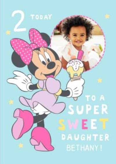 Disney Minnie Mouse Photo upload To a Super Sweet Daughter 2 today