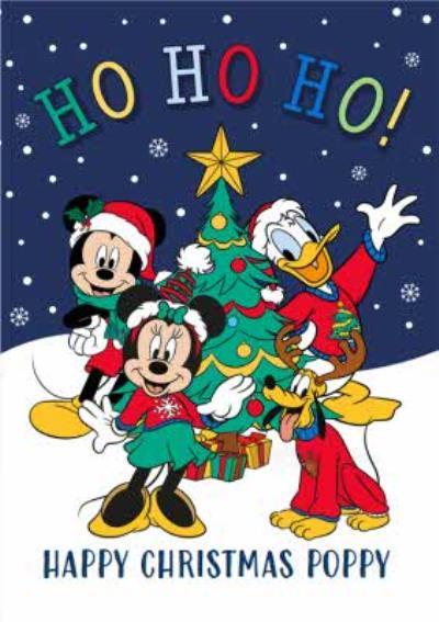 Disney Mickey, Minnie & Friends Christmas Card HO HO HO!