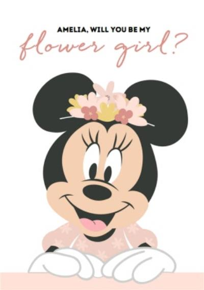 Disney Minnie Mouse Will You Be My Flower Girl Wedding Card