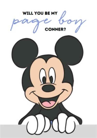 Disney Mickey Mouse Will You Be My Page Boy Wedding Card
