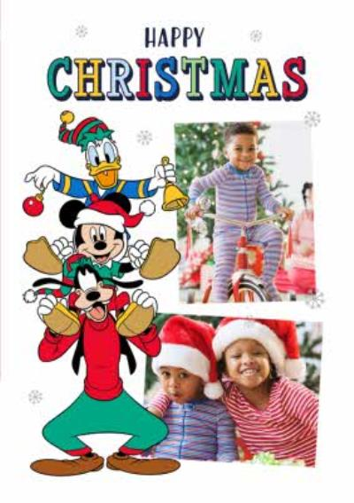 Disney Mickey and Friends Photo Upload Christmas Card