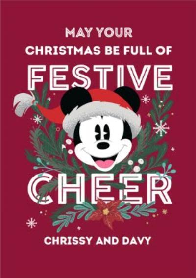 Disney Mickey Mouse Festive Cheer Christmas Card