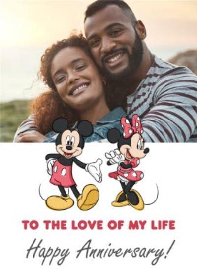 Disney Mickey Mouse Mini Mouse Happy Birthday Photo Upload Card